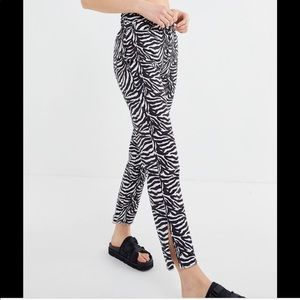 Urban Outfitters kick flare zebra jean